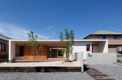 Japanese style wooden house, Japanese view
